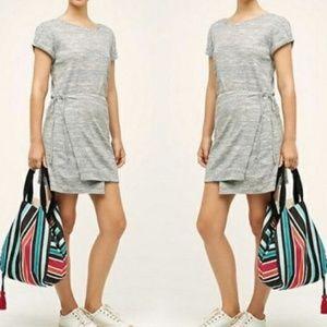 Maeve Anthropologie wrap Dress Heather Gray medium